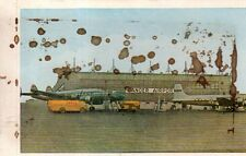 1954 Lockheed Constellation refuels at Gander Newfoundland Airport - Scarce