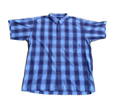 Patagonia Blue Plaid Short Sleeve Button Up Shirt Mens L 51884