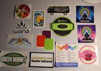 11 Marijuana Pot Stickers + 2 MMJ Magnets 420 Mary J Boulder Colorado Weed NEW