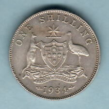 Australia.  1934 Shilling.. 8 Pearls..  aEF - Part Lustre