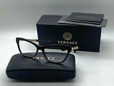 New authentic VERSACE Womens Eyeglasses VE3214 GB1  BLACK 54-16-140MM NIB
