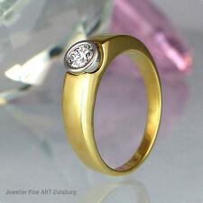 Anello 750/- GIALLO - 950/Platino 1 Diamante 0,33 ct. Top Wesselton/strategica