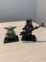 Star Wars The Mandalorian Minifigures Custom Brick! UK Ship! THE CHILD & MANDO