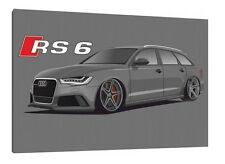 Audi RS6 Avant - 30x20 Inch Canvas - Framed Picture Rally Print Art
