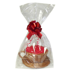 DIY Afternoon Tea Xmas Gift Hamper Kit - Tea Cup Wicker Basket, Shred, Bag & Bow