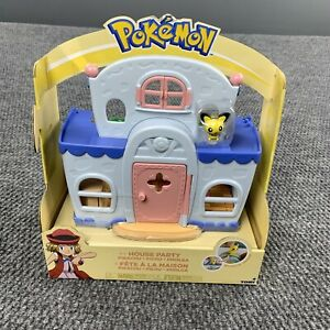 New Pokemon House Party Pikachu Cute Playhouse 2017 TOMY Brand Playset In Box