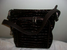 Brighton Sonny Patent Leather Handbag Purse Bronze Brown never used