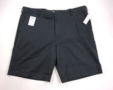 Izod Saltwater Men Sz 40 Dark Gray Flat Front Stretch Casual Shorts New $55 Tags
