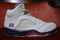 CLEAN Nike Air Jordan Retro 5 V Olympic USA 136027-103 Size 10 Red White Blue