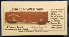 Funaro F&C 1007 NORTHERN PACIFIC NP 40' Old Time 1916 Boxcar Truss Rod Centersil
