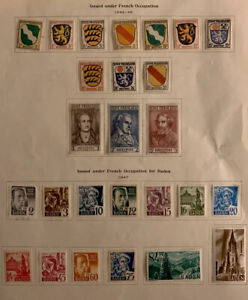 P338 French German WWII Stamps Incredible Complete Set 26 MOGHR On Page Great C