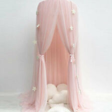 Bed Canopy Round Dome Pink Mosquito Net Princess Bedroom Decor for Baby Kids AU