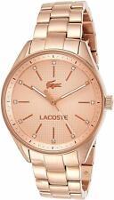 Lacoste Women's Rose Gold-Tone Stainless Steel Bracelet Watch 2000899
