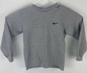 VTG 90s Nike Mini Swoosh Crewneck Sweatshirt Made USA Gray Size Youth Medium