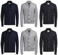 New JACK & JONES Mens Knitted Cardigans Casual Tops Button Jumper Sale Size S-XL
