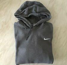 Men's Nike Vtg pre-owned lace up dark grey Pullover Hoodie Sweatshirt - size S