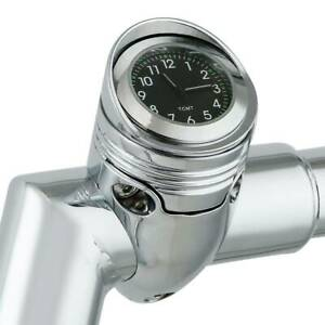 "Chrome 1 1/4"" Motorrad Handlebar Clock Mount Für Harley Chopper cruiser Aluminum"
