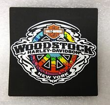 WORLD FAMOUS WOODSTOCK (NY) HARLEY-DAVIDSON PEACE SIGN MILETILE MAGNET
