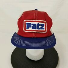 Vintage PATZ Mesh Snapback Trucker Hat Patch USA Made K Products No Foam Stained