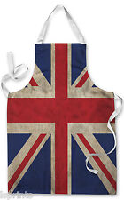 UNION JACK GRUNGE FLAG APRON KITCHEN BBQ COOKING PAINTING FATHERS DAY GREAT GIFT