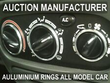 Renault Megane I 96-02 Heater Control Surrounds Dash Chrome Rings Polished Alloy