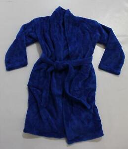 Bare Cotton Boy's Plush Microfiber Fleece Shawl Robe LV5 Royal Blue Size XL