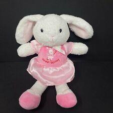 Carters White Rabbit Plush Sweet Bunny Ballerina Pink Dress Ballet Rattle Baby