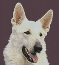 "White German Shepherd Counted Cross Stitch Kit 10""x 11"""