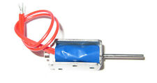 """9v Miniature Pin Solenoid Valve 6vdc to 12vdc with leads 12ohm .8"""" x .4"""" 9vdc"""
