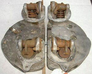 1951-52 AJS Matchless G9 500cc pair cylinder heads K