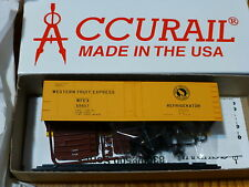 Accurail Ho #83021 Gn / Wfex (40' Steel Reefer kit form) Road #68657