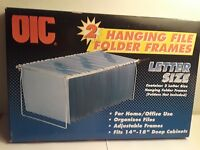 OIC 2 Hanging File Frames Letter Size w/Box for 14''-18'' Cabinets Home Office
