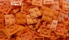 *NEW* Lego Orange 2x2 Flat Plates Bricks Modular House Walls Floors - 20 pieces