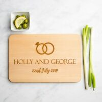 Wedding Rings Personalised Wood Chopping Board  | Anniversary | Wedding Gifts