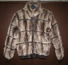Next Brand New Girls Leather Look Details Faux Fur Coat Jacket Age 11-12 Years