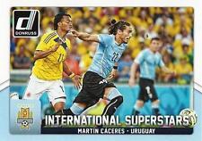 2015 Donruss Soccer 'International Superstars' #76 Martin Caceres Uruguay Juve