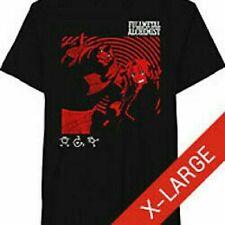 Fullmetal Alchemist Black & Red Character Graphic Anime T-shirt Mens XLarge (HB)