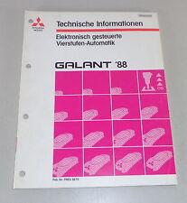 Werkstatthandbuch Technische Info Mitsubishi Galant E 30 Vierstufen-Automatik