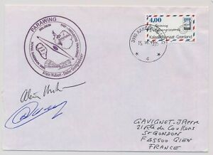 LN21613 Greenland 1995 signed antarctic mail good cover used