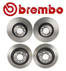 For Porsche Cayenne Turbo 2008 Brembo Front & Rear Disc Brake Rotors Coated Kit