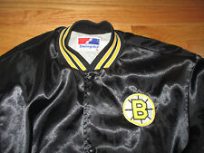Vintage 80s Swingster Label - BOSTON BRUINS Nylon Button-Down (LG) Jacket