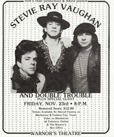 STEVIE RAY VAUGHAN 1984 COULDN'T STAND THE WEATHER TOUR FLYER HANDBILL NM 2 MINT