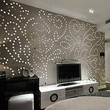 Acrylic Mirror 3D Wall Sticker 100 Dots pack -Silver - JB020SM100