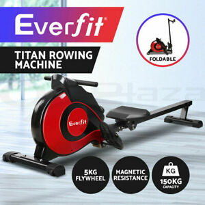 Everfit Magnetic Rowing Machine Rower Exercise Resistance Cardio Fitness Gym