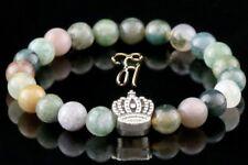 Indian Agate 0 5/16in Bracelet Pearl Bracelet Silver Coated Crown