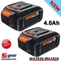 2X 20V WA3520 Battery for Worx WA3578 20Volt MAX Power Share 4.0AH WA3520 WA3575