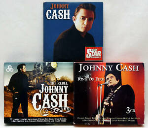 Job Lot JOHNNY CASH CDs Ring Of Fire The Rebel 3 CD Boxsets EX Condition