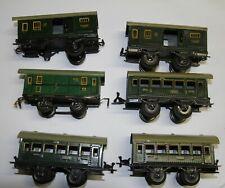 Karl Bub KB Spur 0 sechs Personenwagen   in grün