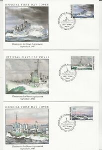 50th Ann WWII Comm/FDC - Mars Isles - Bases for Destroy with Stamps -1990 (134)