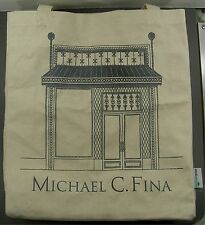 Michael C. Fina Tote Shopper Beige Anvil 100% Recycled Cotton Reusable Eco Bag